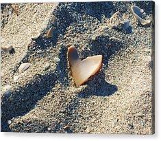 I Heart The Beach Acrylic Print by Anna Villarreal Garbis