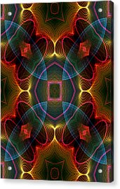 Acrylic Print featuring the digital art I I U by Owlspook