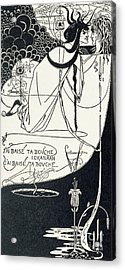 I Kissed Your Mouth Acrylic Print by Aubrey Beardsley