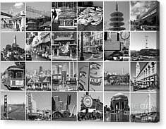 I Left My Heart In San Francisco 20150103 Horzontal Bw Acrylic Print by Wingsdomain Art and Photography