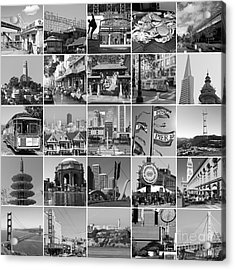 I Left My Heart In San Francisco 20150103bw Acrylic Print by Wingsdomain Art and Photography