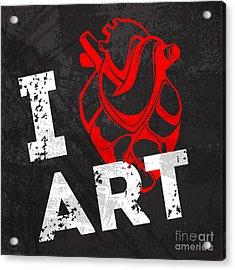 I Love Art Acrylic Print by Pevuna