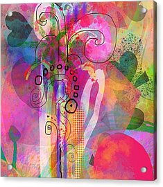 I Love Color, Does It Show Acrylic Print by Robin Mead