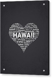 I Love Hawaii Acrylic Print