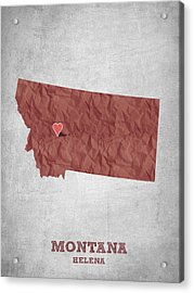 I Love Helena Montana - Red Acrylic Print