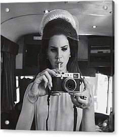 I Love How She's Vintage #lanadelrey Acrylic Print