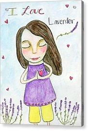 I Love Lavender Acrylic Print