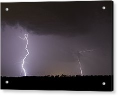 I Love Lightning Acrylic Print by John Crothers