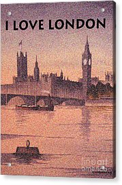 I Love London Acrylic Print
