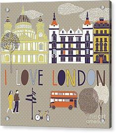 I Love London Print Design Acrylic Print
