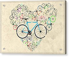 I Love My Bike Acrylic Print by Andy Scullion