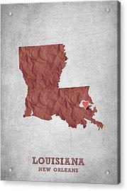 I Love New Orleans Louisiana - Red Acrylic Print