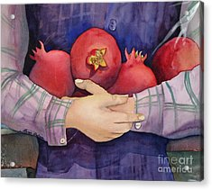 I Love Pomogranates Acrylic Print by Shirin Shahram Badie