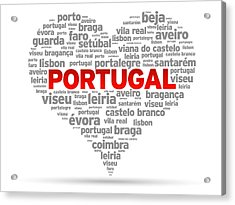 I Love Portugal Acrylic Print by Aged Pixel