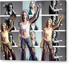 I Love U Iggy Pop Acrylic Print by Lisa Piper