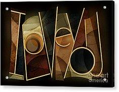 I Love You - Abstract  Acrylic Print by Shevon Johnson