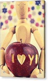 I Love You Acrylic Print by Gynt