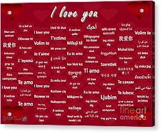 I Love You Acrylic Print by J McCombie