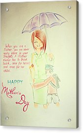 Mother's Day- I Love U Mom Acrylic Print by Tanmay Singh
