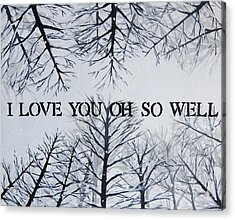 I Love You Oh So Well Dmb Painting Acrylic Print