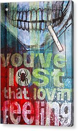 I Might Like You Better If We Slept Together Acrylic Print by Bobby Zeik