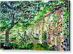 Acrylic Print featuring the painting I Never Promised You A Rosegarden by Alfred Motzer