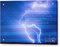 I Pledge Allegiance To The Flag  Acrylic Print by James BO  Insogna