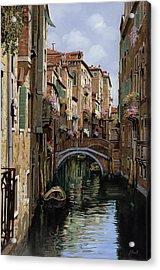 I Ponti A Venezia Acrylic Print by Guido Borelli