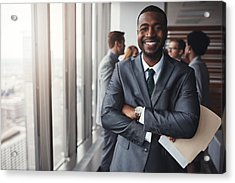 I Really Stood My Ground In That Meeting Acrylic Print by Gradyreese