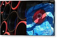 I Saw A Circular Saw Acrylic Print by Marlene Burns