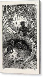 I Saw In The Hollow Between The Roots Of A Big Tree Three Acrylic Print
