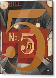 I Saw The Figure 5 In Gold Acrylic Print