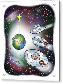 We Three Spacemen Acrylic Print