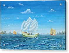 I Saw Three Ships Acrylic Print