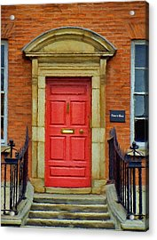 I See A Red Door Acrylic Print by Jeff Kolker