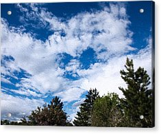 I See A White Cloud Looking At Me Acrylic Print by Omaste Witkowski