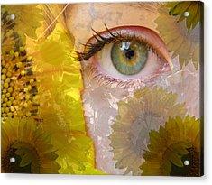 I See Sunflowers Acrylic Print