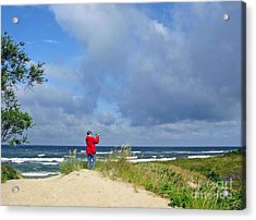 I See The Sea. Juodkrante. Lithuania Acrylic Print by Ausra Huntington nee Paulauskaite