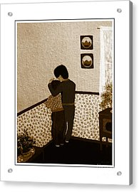 I Stay Wif You Acrylic Print by Barbara Griffin