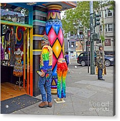 I Think He Found The Store He Was Looking For Acrylic Print by Jim Fitzpatrick