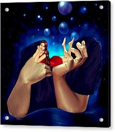 I Think Of U And U Think Of Me  Acrylic Print by Mayur Sharma