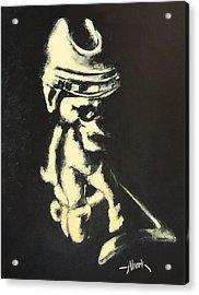 I Was Born To Play Hockey Acrylic Print by Almark