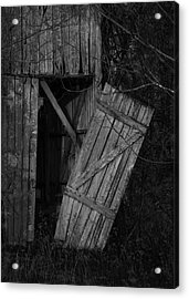 Acrylic Print featuring the photograph I Watched You Disappear - Bw by Rebecca Sherman