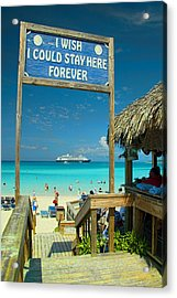I Wish I Could Stay Here Forever Acrylic Print by David Smith