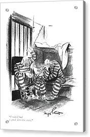 I Wish I Had A Good Detective Story Acrylic Print by Kemp Starrett