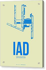 Iad Washington Airport Poster 1 Acrylic Print by Naxart Studio