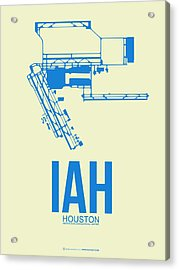 Iah Houston Airport Poster 3 Acrylic Print