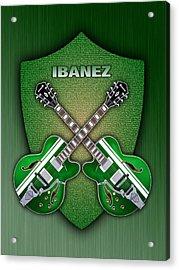 Ibanez Geen Shield Acrylic Print by Doron Mafdoos