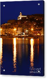 Ibiza Old Town At Night Acrylic Print by Rosemary Calvert