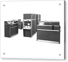 Ibm 650 Data Processing System Acrylic Print by Underwood Archives
